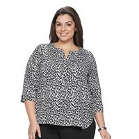 Plus Size Dana Buchman High Low Shirttail Top
