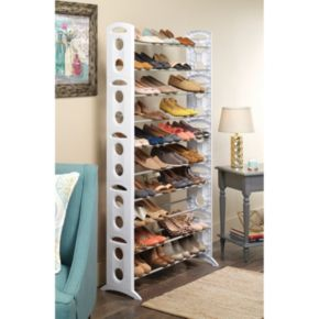 Whitmor 50-Pair Floor Shoe Rack