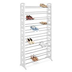 Whitmor 50-Pair Floor Shoe Rack
