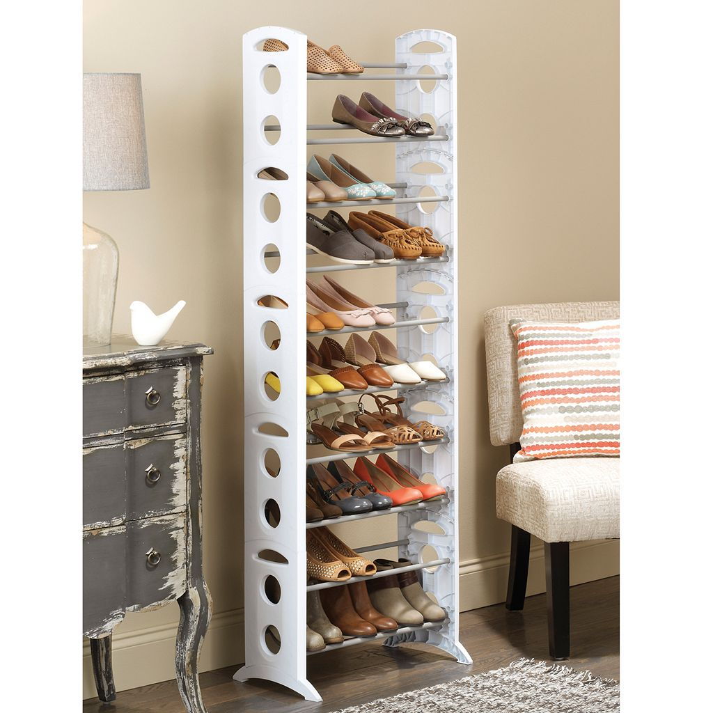 Whitmor 30-Pair Floor Shoe Rack