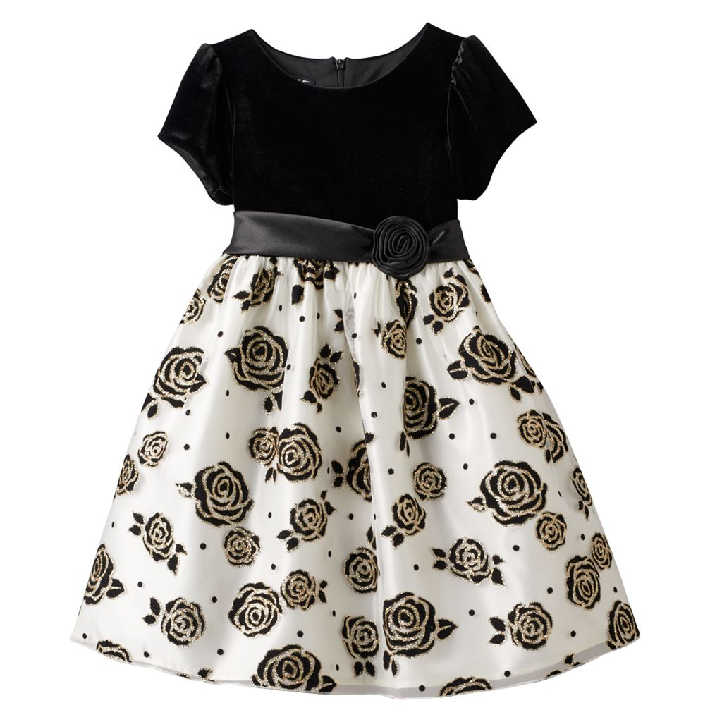 Girls 4-6x American Princess Glittery Rose Dress
