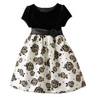 Girls 4-6x American Princess Glittery Rose Dress