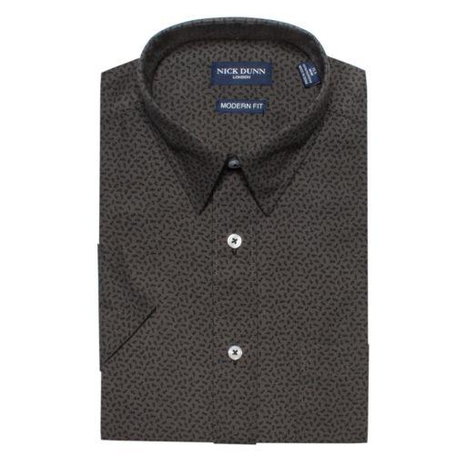 Men's Nick Dunn Modern-Fit Patterned Dress Shirt