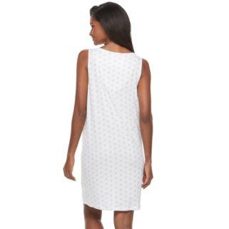 Women's Croft & Barrow® Pajamas: Sleeveless Smocked Nightgown