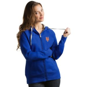 Women's Antigua New York Mets Victory Full-Zip Hoodie