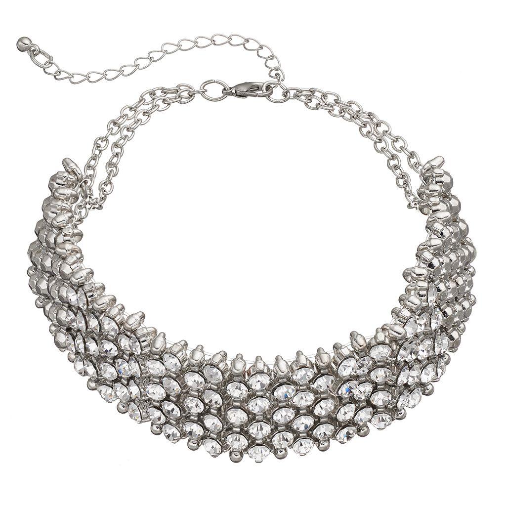 Mudd® Simulated Crystal Wide Choker Necklace