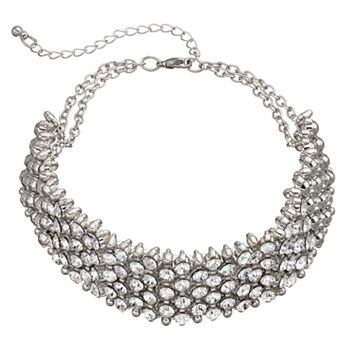 Mudd® Simulated Crystal Wide Choker Necklace