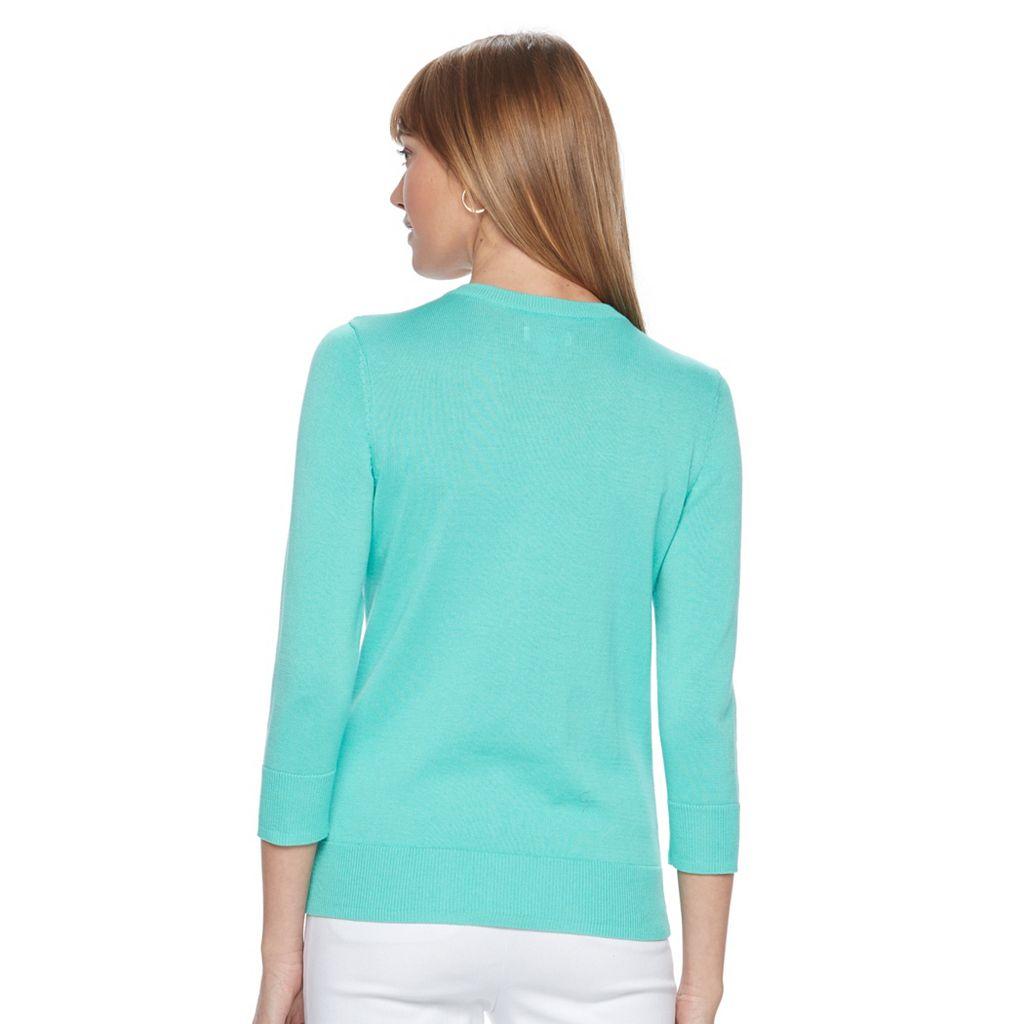 Women's Croft & Barrow® Button Down Cardigan
