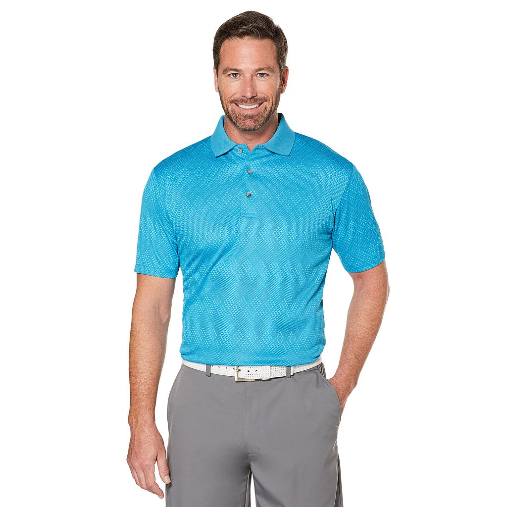 Men's Grand Slam Regular-Fit Space-Dyed Jacquard Performance Golf Polo