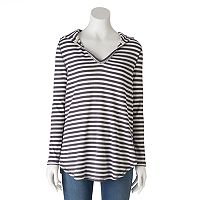 Women's Olivia Sky Striped Thermal Tunic