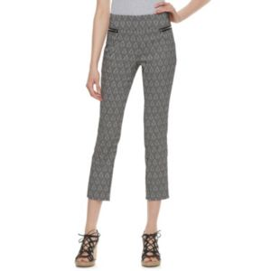 Juniors' Joe B Textured Zipper Ankle Pants