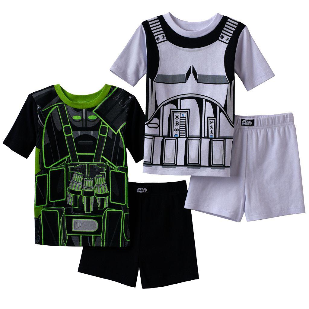 Boys 6-12 Rogue One: A Star Wars Story 4-Piece Pajama Set