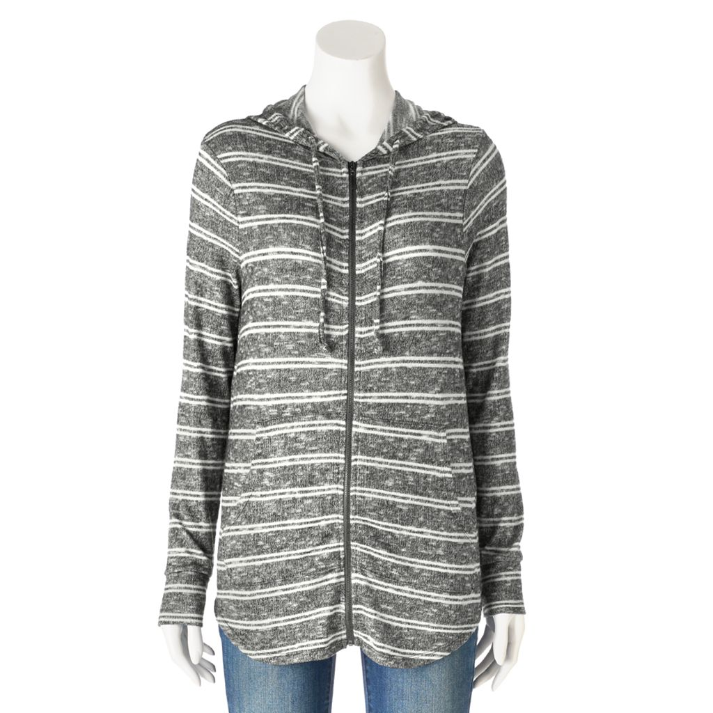 Women's Olivia Sky Striped Tunic Hoodie