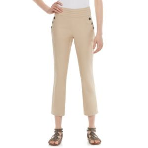 Juniors' Joe B Button-Accent Ankle Pants