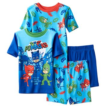 Boys 4-8 PJ Masks 4-Piece Pajama Set