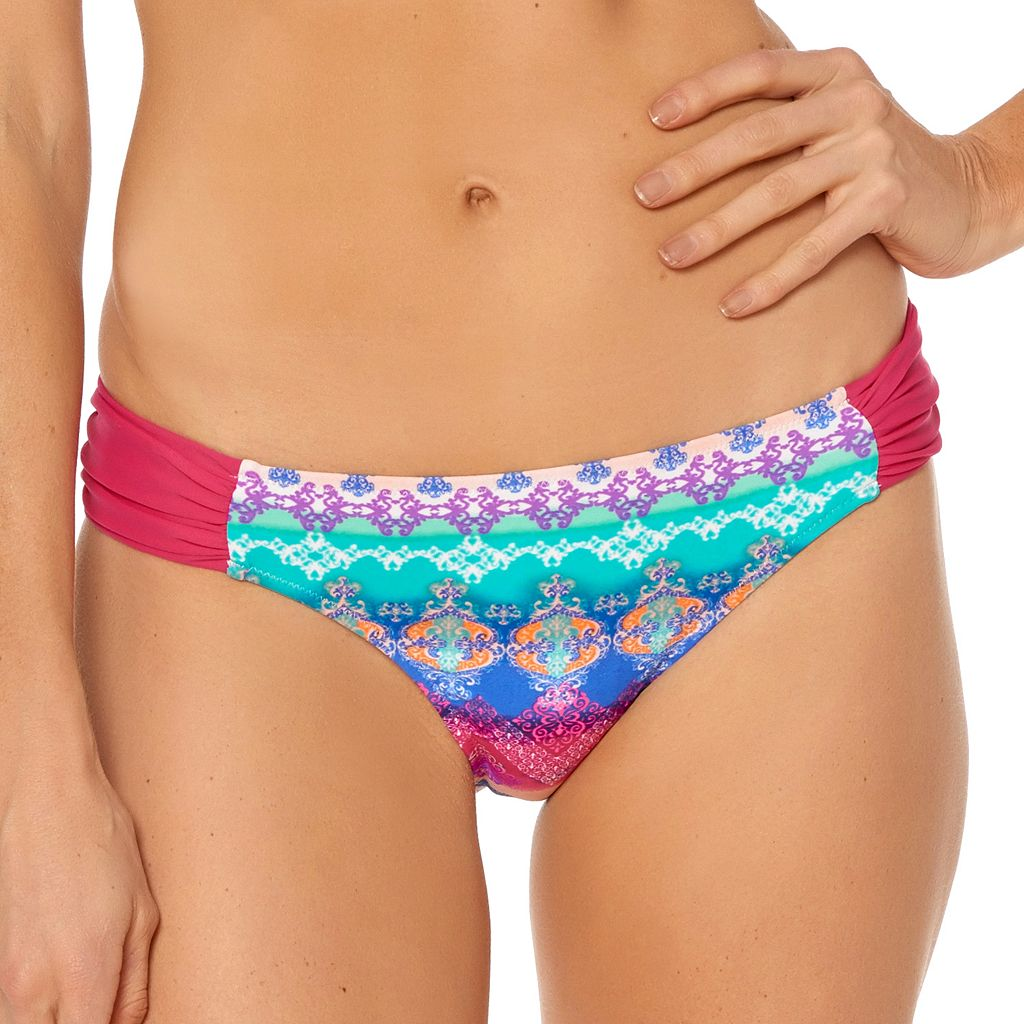 Women's Pink Envelope Tribal Bikini Bottoms