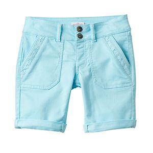 Girls 7-16 & Plus Size SO® Lace Trim Bermuda Twill Shorts