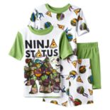 Boys 4-10 Teenage Mutant Ninja Turtle 4-Piece Pajama Set
