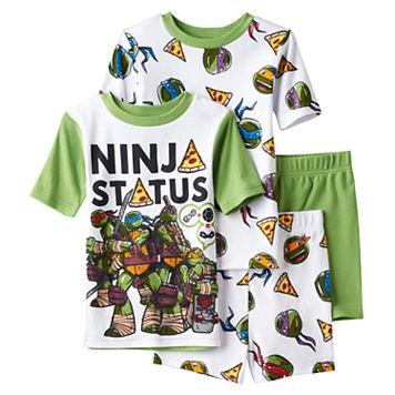 Boys 4-10 Teenage Mutant Ninja Turtle 4-Piece Pajama Set