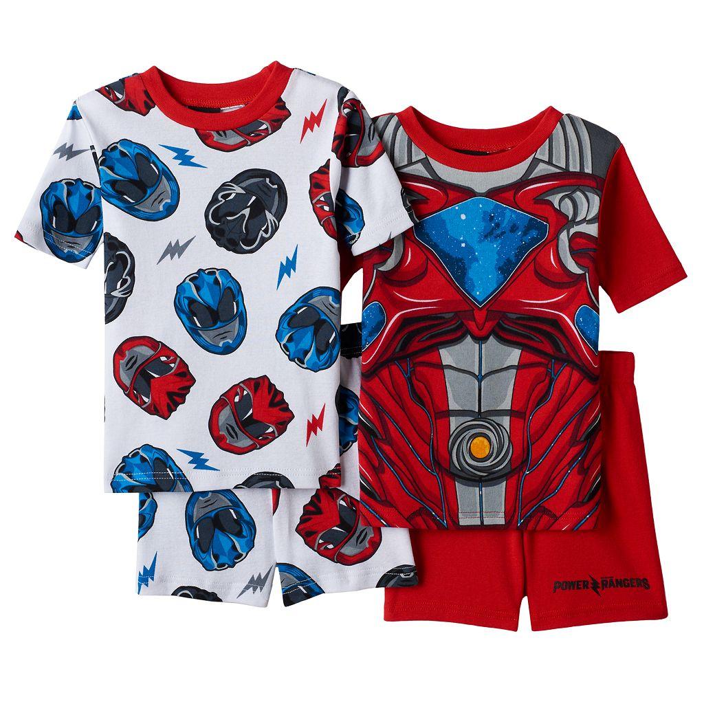 Boys 4-8 Power Ranger 4-Piece Pajama Set