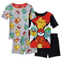 Boys 6-12 Pokemon 4-Piece Pajama Set