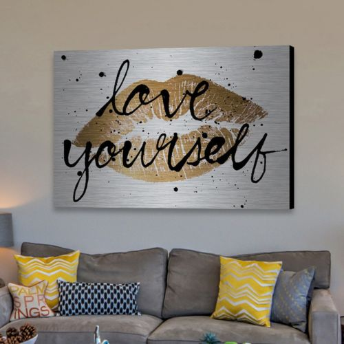 "Marmont Hill ""Love Yourself"" Aluminum Wall Art"