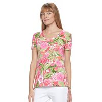 Women's Caribbean Joe V-Neck Side-Tie Top