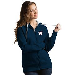 Women's Antigua Washington Nationals Victory Full-Zip Hoodie
