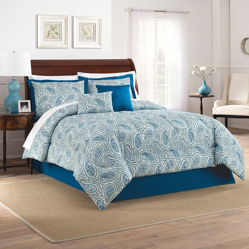 Traditions by Waverly 4-piece Paisley Proposal Comforter Set