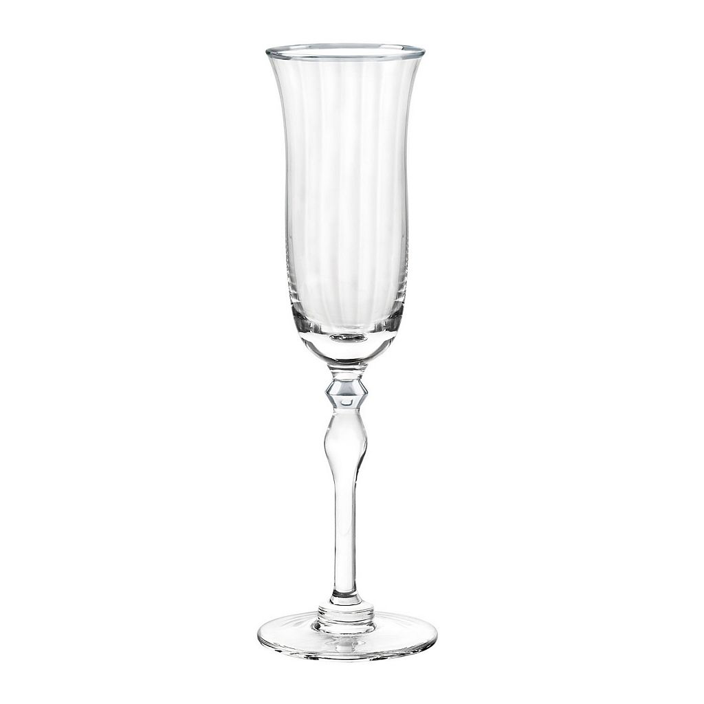 Qualia Salem Gold 4-pc. Flute Glass Set