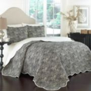 Traditions by Waverly 3-piece Paddock Shawl Quilt Set