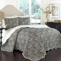 Traditions by Waverly 3 pc Paddock Shawl Quilt Set