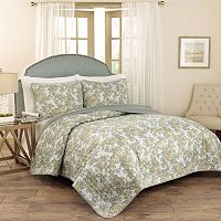 Traditions by Waverly 3 pc Tulip Toile Quilt Set