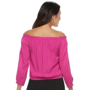 Juniors' Candie's® Embellished Off-the-Shoulder Top