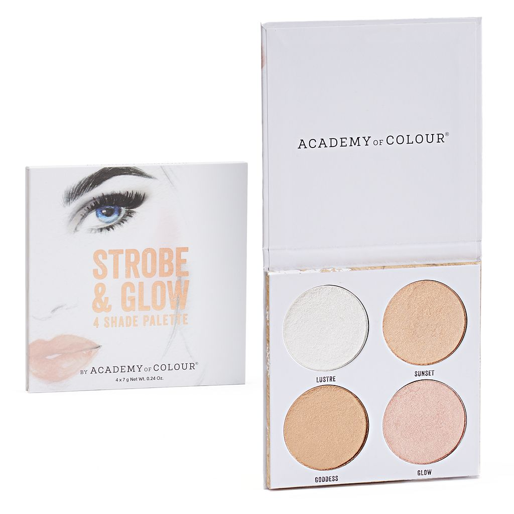 Academy of Colour Strobe & Glow 4 Shade Shimmer Powder Palette
