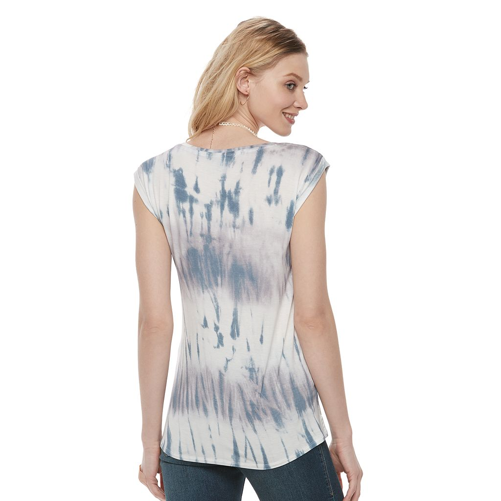 Women's Rock & Republic® Sequin Tie-Dye Tee