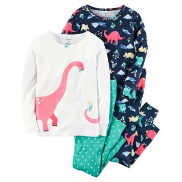 Girls 4-12 Carter's 4-pc. Dinosaur Pajama Set