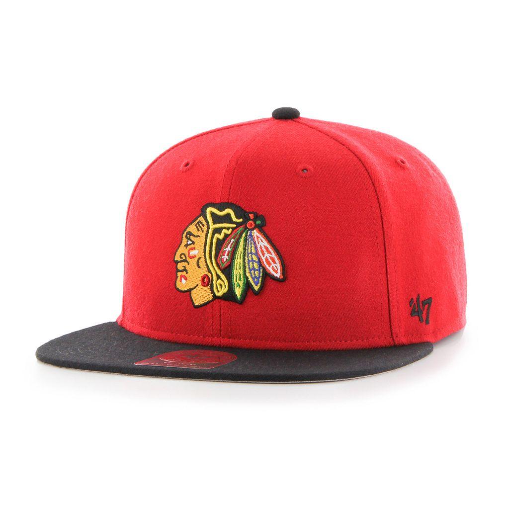 Youth '47 Brand Chicago Blackhawks Lil Shot Adjustable Cap