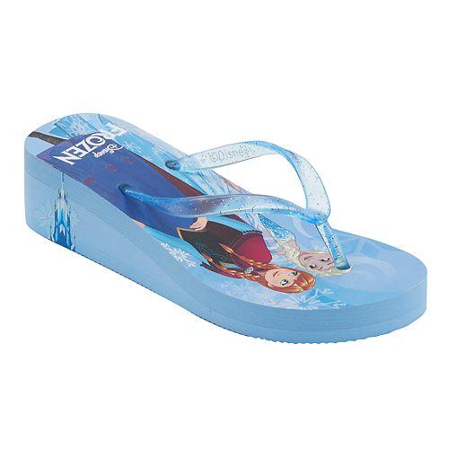 Disney's Frozen Elsa & Anna Girls 4-16 Wedge Flip Flops