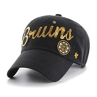 Women's '47 Brand Boston Bruins Sparkle Script Adjustable Cap