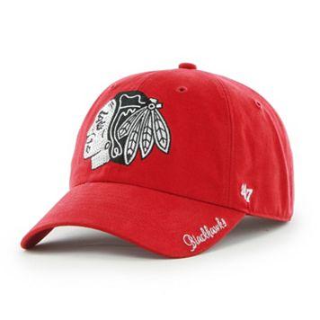 Women's '47 Brand Chicago Blackhawks Sparkle Clean Up Adjustable Cap