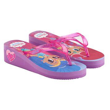 Girls 4-16 Shimmer & Shine Wedge Flip Flops