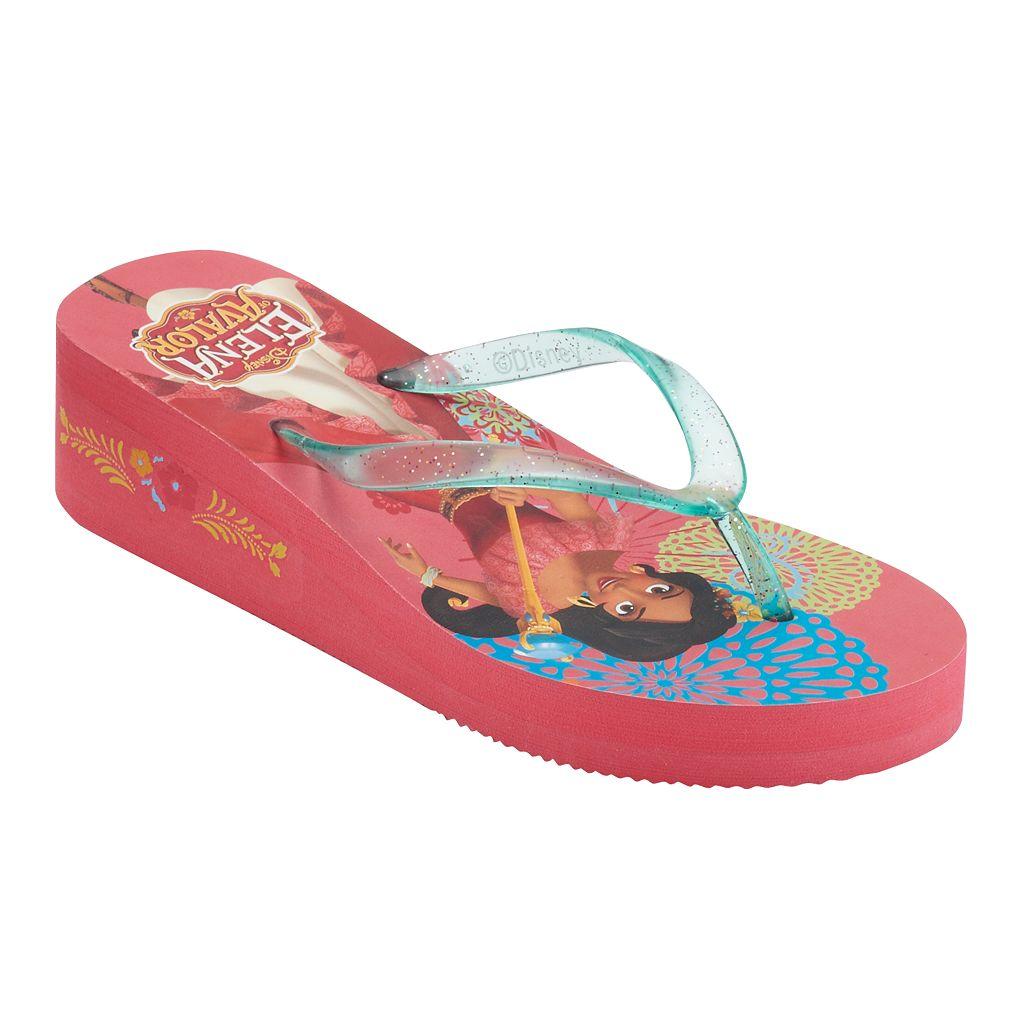 Disney's Elena of Avalor Girls 4-16 Wedge Flip Flops