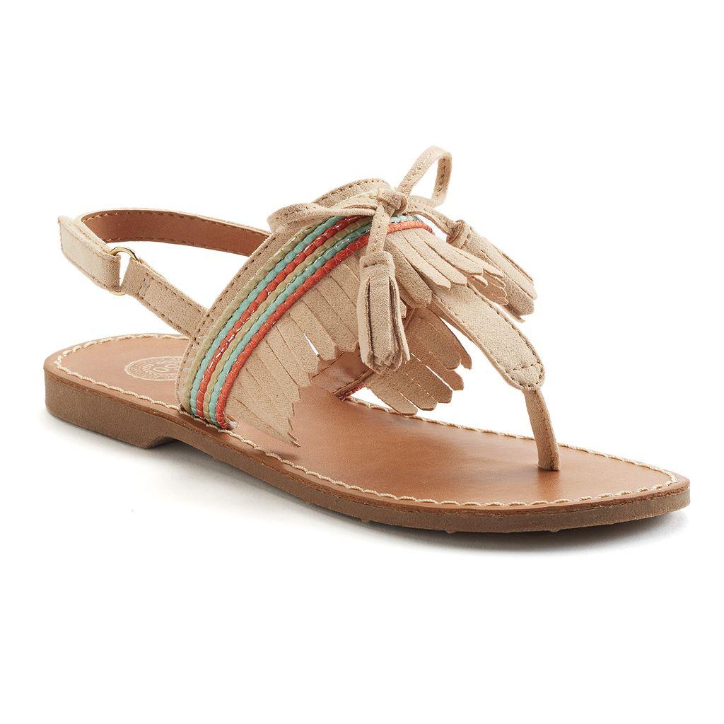 SO® Bramble Girls' Slingback Sandals