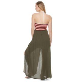Juniors' Candie's® Striped Crochet Maxi Dress