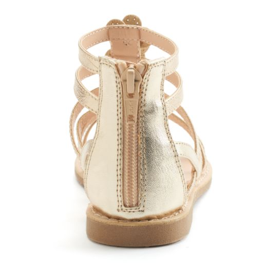 SO® Girls' Flower Gladiator Sandals