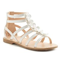 SO® Girls' Flower Gladiator Sandals