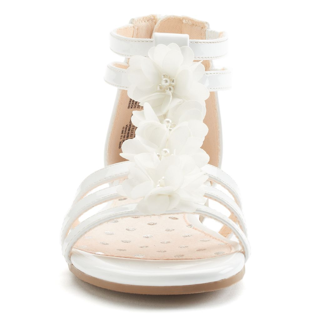 SO® Girls' Flower Dress Sandals