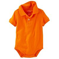 Baby Boy OshKosh B'gosh® Solid Polo Bodysuit