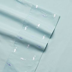 Grand Collection Seaside Microfiber Embroidered Sheet Set